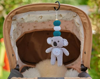 Koala Mobile- Koala Rattle- Personalized rattle- Hanging Mobile- Play Gym toy- Car seat Toy- Pram Toy