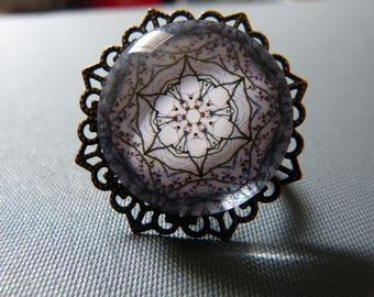 Rose cabochon ring