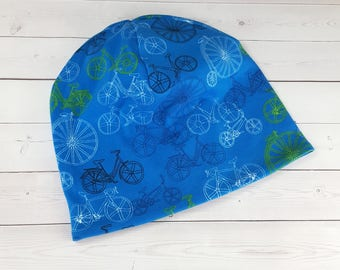 Slouchy Beanie, Toddler Slouchy Beanie, Slouchy Hat, Baby Beanie, Baby Slouchy Hat, Toddler Beanie, Kids Slouchy Beanie, Bicycle Hat