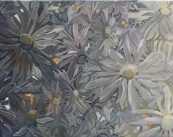 Shades of Gray acrylic painting
