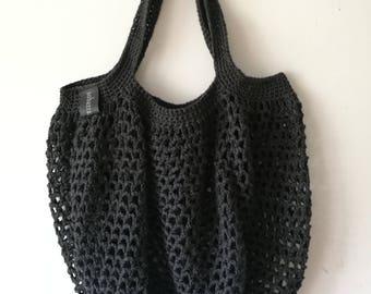 crochet string bag/market bag/cotton string bag/cotton crochet market bag/ eco-friendly