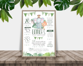 Wild One Printable First Birthday Poster