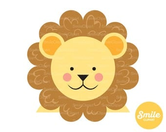 Cute Lion Clipart Illustration for Commercial Use | 0242
