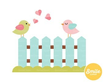 Birds in Love Clipart Illustration for Commercial Use | 0261