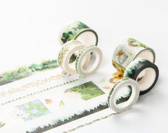 Girls Washi Tape - Green Set