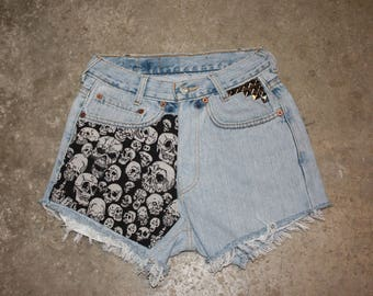 Custom High Waisted Vintage Short T.26 et T. 27