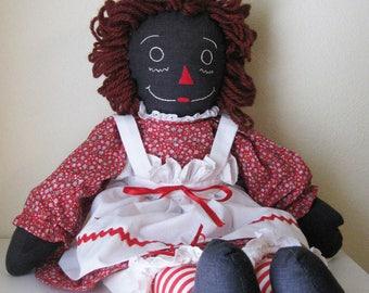 African American Raggedy Ann Doll