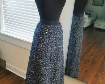 Vintage blue long skirt small/medium