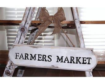 "Distressed ""Farmers Market"" Burlap Sign. Farmers Market Sign. Distressed Sign. Farmhouse Sign. Rustic Farmers Market Sign. Rustic Sign."