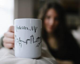 Rochester Skyline Mug