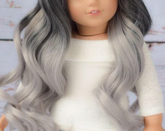 """Custom Doll Wig for 18"""" Dolls American Girl Doll Heat Safe - Tangle Resistant - Wig cap 11"""" GOTZ Journey Girls My Life Our Generation"""