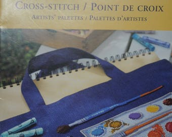 """artists palette"" cross stitch pattern"