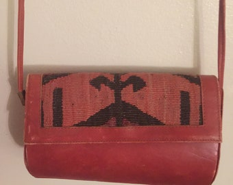 Handmade Kilim Sholder Bag  Leather Bag