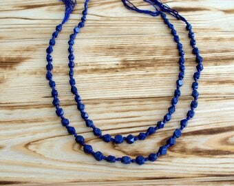 Afghani lapis lazuli urban necklace, Necklace natural Pyrite,Statement Necklace, Natural Stones Necklace, Asymmetric Lapis Beads Necklace