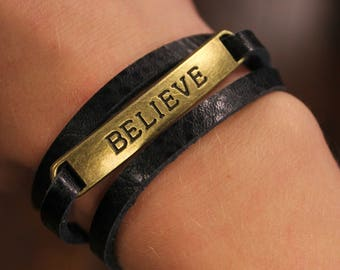 Believe Leather Wrap