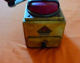 Old coffee mill DIENES - light and red wood - Made in Germany-