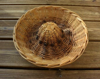 Authentic vintage baker's bread basket basket - folk art - french baker -