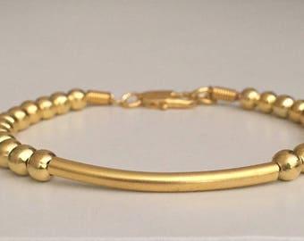 Beaded bracelet Minimalist bracelet Dainty gold plated bracelet Women's bracelet Fashion jewelry Gift for her