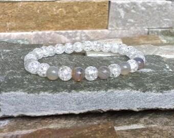 Balance harmony mala meditation Bracelet Crystal agate