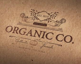 Logo, Unique Logo, One buyer Logo, Luxury Logo, Elegant Logo, Hand drawn logo, Vintage, Illustration, Handmade, Branding Identity, Organic