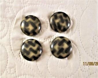 Vintage Buttons, celluloid buttons, 1930's fasteners, art deco clothing, coat buttons, art deco design