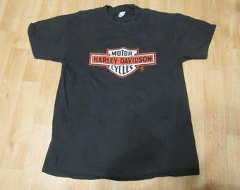 Vintage Harley Davidson Logo Shirt 80s 1980 high plain Large