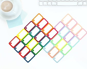 16 Multi-Coloured Bright OR Pastel Half Box Stickers for Erin Condren LifePlanner