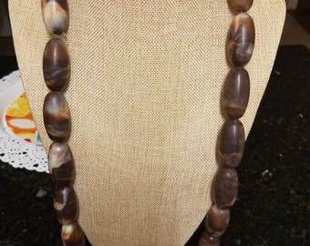 Imitation Brown Coral  Bead Necklace