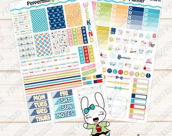 Blessed Faith Weekly Planner Kit --- Planner Stickers --- For Use with the Mini Happy Planner ---MHP06