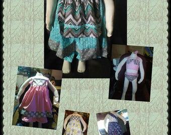 Handmade girls clothes.
