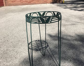 """Free Shipping Anywhere!!! Vintage Metal Plant Stand With Hairpin Legs 25"""" Tall 14"""" Diameter"""