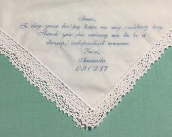 Mother of the Bride/Groom Handkerchief - Customizable