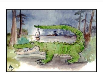 Gator in the Night