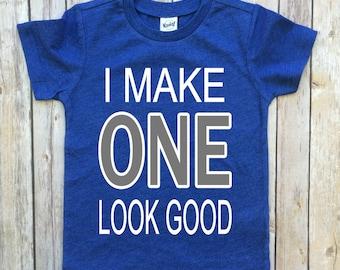 Boys birthday shirt, 1st birthday, boys birthday, birthday shirt, I make one look good