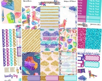 VERTICAL KIT, Unicorn Dreams Kit, Made for Use with Erin Condren Life Planners, EC Vertical, Planner Stickers, Sticker Kit