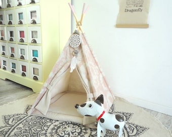 Pet teepee Including pillow. Cat bed. Dog house. Tent. Tipi. Tie dye.