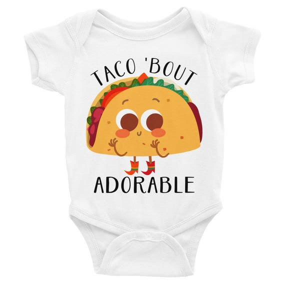 Funny Taco Infant Bodysuit, Taco Baby Shirt Taco Baby Gift, Cute Baby Clothes