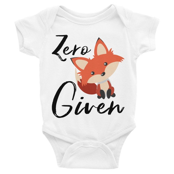 Zero fox given cute baby onesie, cute fox, fox sake bodysuit, oh for fox sake, zero fox given shirt, fox onesie, fox baby clothes, boho