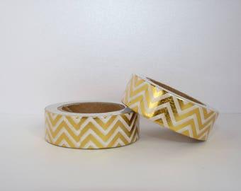 masking tape Golden - Christmas gift - packaging - decoration - wedding