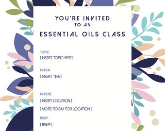 CUSTOMIZE Essential Oils Class Invitation