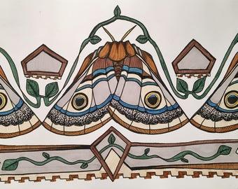 Moth Trim Print
