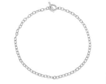 Silver Plated Toggle Fashion Choker