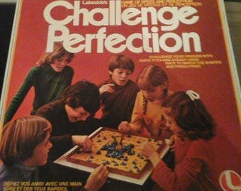 Vintage Challenge Perfection 1978 Lakeside Board Game Complete 8374
