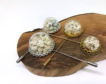 Baby's Breath Glass Brooch