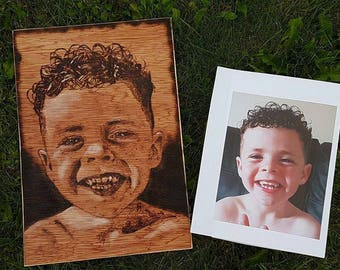 A4 Pyrography portrait (One face)