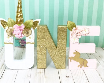 Unicorn Floral Letters © - Unicorn Letters - Unicorn first Birthday - Unicorn Decorations - Unicorn birthday- unicorn Birthday Decor -