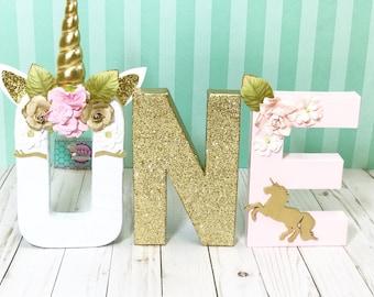 Unicorn Floral Letters © - Unicorn Letters - Unicorn first Birthday - Unicorn Decorations - Unicorn birthday- unicorn Birthday Decor -