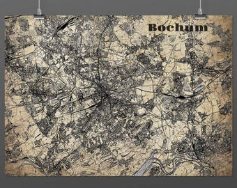Bochum DIN A4 / DIN A3 - print - turquoise