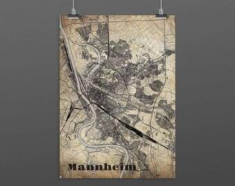 Mannheim DIN A4 / DIN A3 - print - turquoise