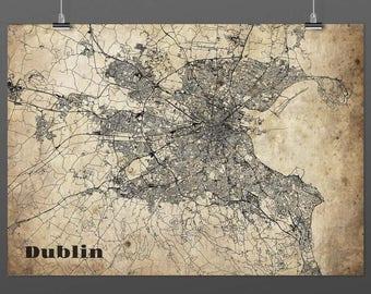 Dublin din a4/DIN A3-Print-Vintagestyle